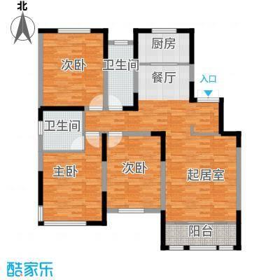 融侨观邸137.00㎡E1户型3室2厅2卫