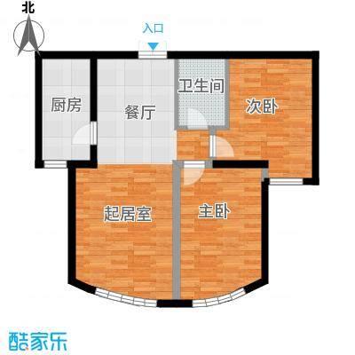 新华联运河湾86.23㎡B-2户型2室2厅1卫