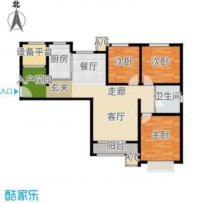 中建滨海壹号户型3室1厅1卫1厨