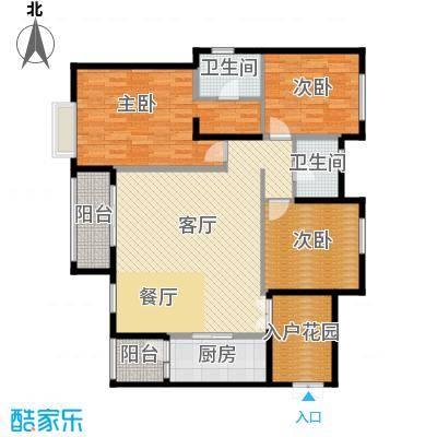 天悦府130.00㎡A1-1户型3室2厅2卫
