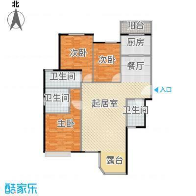 合生君景湾153.26㎡户型3室2厅3卫