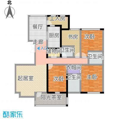 香格里149.00㎡G户型3室2厅2卫