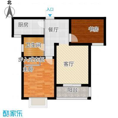 枫逸人家94.19㎡18#楼D户型2室1厅1卫1厨