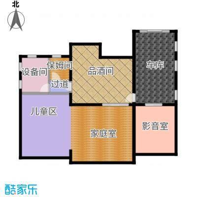 天恒・半山世家156.50㎡E半地下室平面图户型8室4厅4卫