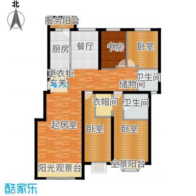 北京奥林匹克花园117.60㎡四期D3户型4室2厅2卫