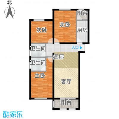 龙湖・香醍溪岸116.00㎡纳景怡筑户型3室2厅2卫