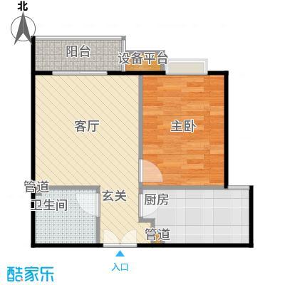 华纺易城华纺易城户型图8、10、12号楼A1户型一室一厅一卫(12/15张)户型10室