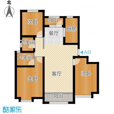 保利香颂湖115.00㎡115两位户型3室1厅2卫1厨