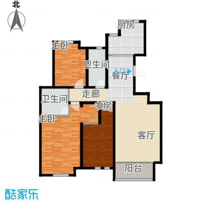 泰达御海137.00㎡二期C1户型3室2厅2卫