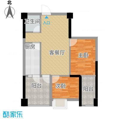 君和源63.52㎡1-22层户型2室1厅1卫1厨