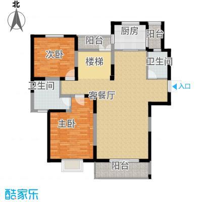 中航瑞祥花园224.18㎡复式B4一层户型3室3厅2卫