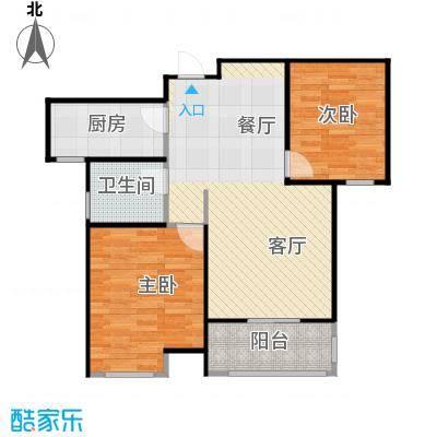 太湖国际社区88.00㎡湖湾HOUSEA-2户型2室2厅1卫