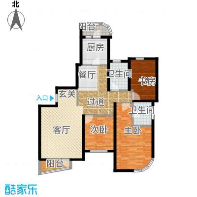 仁恒海河广场121.12㎡峰云阁--B1/B1\\\'-户型3室2厅2卫