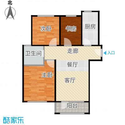 曹妃甸生态城彩虹嘉园89.50㎡户型3室2厅1卫