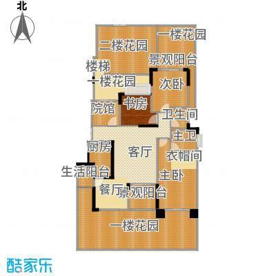 中国铁建山水时光220.72㎡洋房A1户型3室2厅2卫