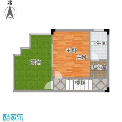 广州雅居乐花园140.20㎡H2型四联别墅三层平面图户型1室1卫