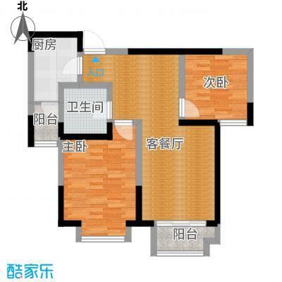 卓达太阳城89.94㎡24-2户型2室2厅1卫