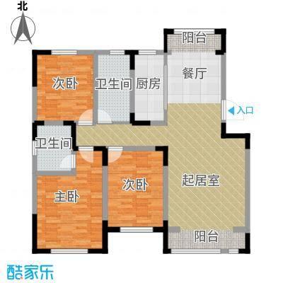 松江城洋房118.78㎡户型10室