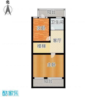 艾维诺森林82.57㎡联排E1二层户型10室