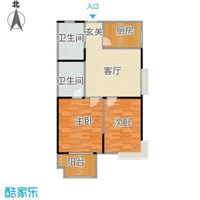 五龙湾阳光海岸77.54㎡二期9号楼户型2室2厅1卫