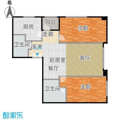 奥东18号115.39㎡南楼M户型2室2卫1厨