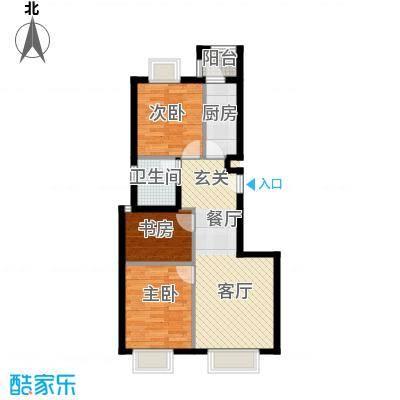 天恒乐活城D589.00㎡D户型3室2厅1卫