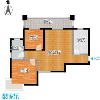 鑫天御景湾88.87㎡H1户型2室2厅1卫