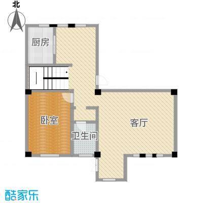 联发滨海琴墅99.00㎡别墅L2一层户型1室2厅1卫