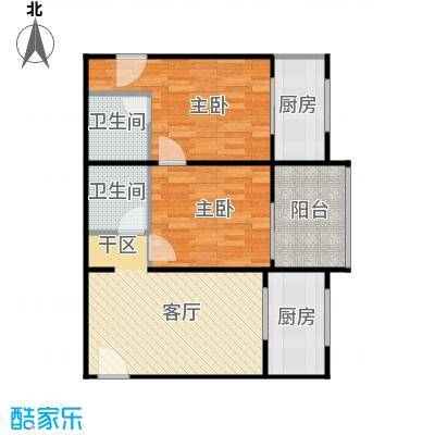 东尚蜂鸟90.01㎡户型2室1厅2卫