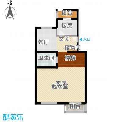 龙顺御墅178.00㎡Bd首层平面图户型2室1厅1卫