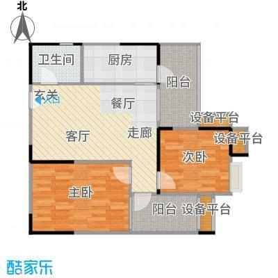 君和源78.39㎡君和源户型图君和源1-22层78.39㎡户型(独栋)(3/3张)户型2室2厅1卫