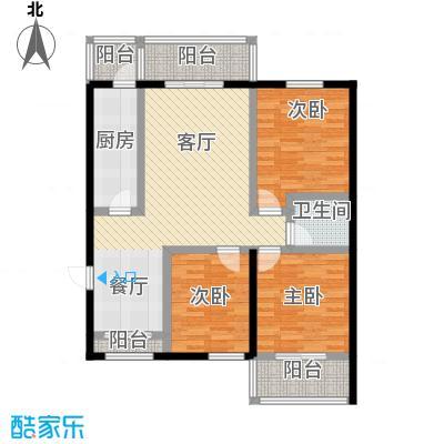 龙昌滨河源125.69㎡2C户型3室1厅1卫1厨