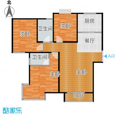 爱尚公寓92.25㎡户型10室