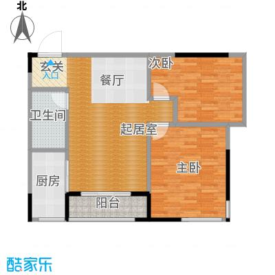 仁恒河滨花园91.00㎡E12/4号楼0户型2室1卫1厨