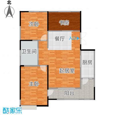 卓达太阳城121.68㎡25-1户型3室2厅2卫