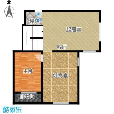 北京奥林匹克花园88.08㎡b2b-xy1下层户型10室