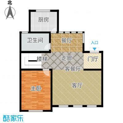 海川园101.91㎡24、26、27、29号楼A1系地上户型1室1厅2卫