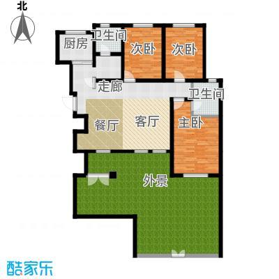 听涛苑124.00㎡B1户型3室2厅2卫