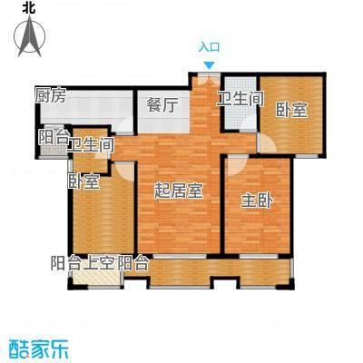 唐山万达广场104.07㎡B1三方户型10室