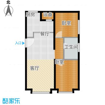 保利金香槟104.48㎡b层公寓户型2室2厅1卫