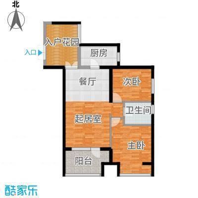 永泰枕流GOLF公寓95.43㎡一期6-7号门标准层I2户型2室2厅1卫