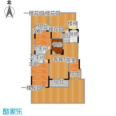 中国铁建山水时光227.79㎡洋房B1户型4室2厅2卫