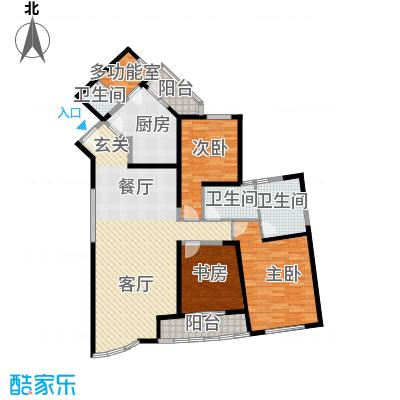 仁恒海河广场132.27㎡D-户型10室