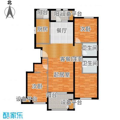 龙湖・香醍溪岸135.00㎡纳景怡筑户型3室2厅2卫