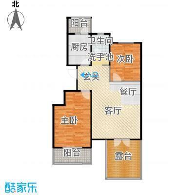 弘祥家园95.00㎡1、2、3#楼A单元2层户型10室