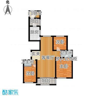 唐山万达广场118.84㎡D1三方户型10室