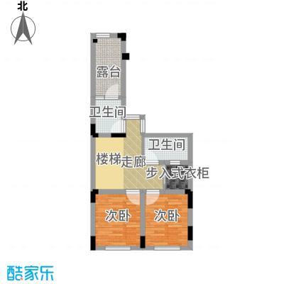 隆鑫72府144.97㎡A2二层户型2室2卫