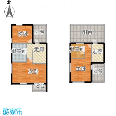 龙顺御墅240.00㎡AL二层、三层平面图户型3室2厅2卫