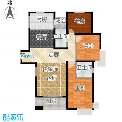 仁恒河滨花园156.00㎡A1\\\'户型3室2厅2卫