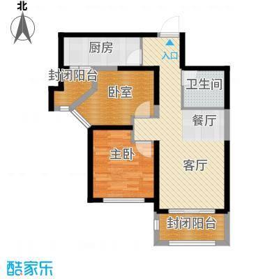 天津碧桂园90.00㎡J81B户型2室2厅1卫